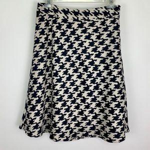 Banana Republic Classic Houndstooth A-Line Skirt